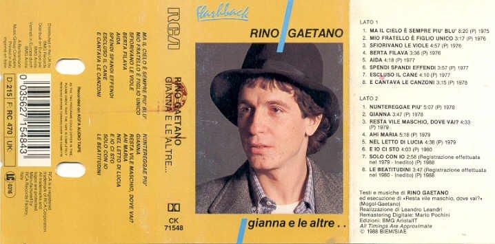 Marietto home page 2003 la discografia di rino gaetano - Rino gaetano nel letto di lucia ...